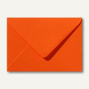 Farbige Briefumschläge 130 x 180 mm nassklebend ohne Fenster dunkelorange 500St.