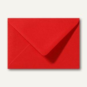Farbige Briefumschläge 130 x 180 mm nassklebend ohne Fenster korallenrot 500st.