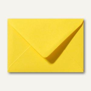 Farbige Briefumschläge 130x180mm nasskleb. ohne Fenster butterblumengelb 500St.