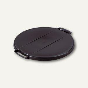 Durable Deckel DURABIN Lid Round 40, mit Griffen, schwarz, 1800520221
