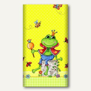 "Motiv-Tischdecke ""Prince Frog"", Papier, lackiert, 120 x 180 cm, bunt, 15 Stück"