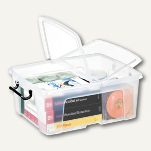Strata Mehrzweckbox / 24 Liter, PP, Deckel, stapelb., 395x498x202mm, transparent