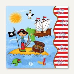 Dekorservietten Pirate Island