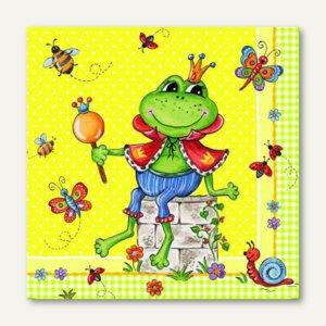 Motivservietten Prince Frog