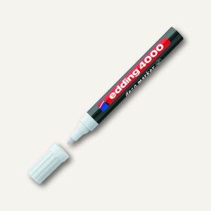 Edding deco marker 4000, Rundspitze, Strichstärke: 2-4 mm, weiß, 4-4000049