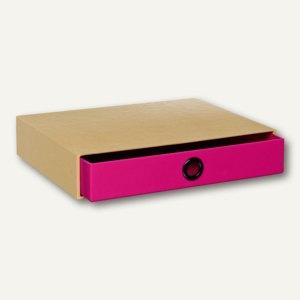 NATURE PINK Schubladenbox für DIN A4, pink, 3er Pack, 1524421000