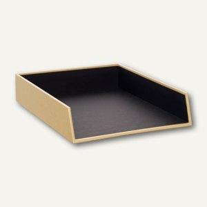 NATURE BLACK Ablagekorb für A4, Karton, stapelbar, schwarz, 3er Pack, 1335422000