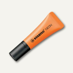 STABILO Textmarker NEON, Keilspitze 2-5mm, orange, 72/54