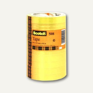Scotch 3M Klebeband 508, 15 mm x 66 m, (Ø)7.6 cm, transparent, 10 Rollen,5081566