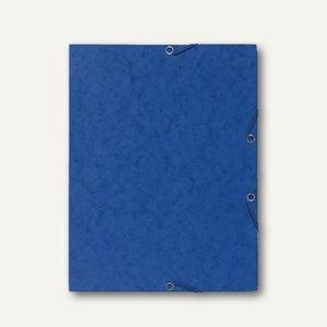 Exacompta Eckspannmappe, 355 g/m², Manila-Karton, DIN A4, blau, 55462E