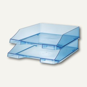 HAN Briefablage KLASSIK, transparent blau, 2er Pack, 1026-X-26