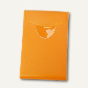 HAN Visitenkartenbox COGNITO, für 20 Karten, transluzent-orange, 2002-61