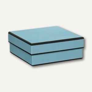 MAYFAIR Kartonage, quadratisch, 180x180x70mm, powder-blue, 3 Stück, 1342454800