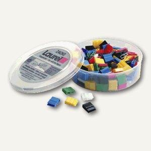 Kunststoff-Briefklemmer Zacko 1, 11 x 14 mm, farbig sortiert, 120 Stück, 2845-95
