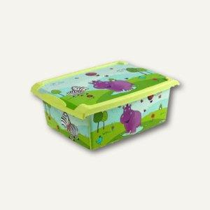 OKT Aufbewahrungsbox Hippo, 10 l, 390 x 290 x 140 mm, grün, 1270226201200