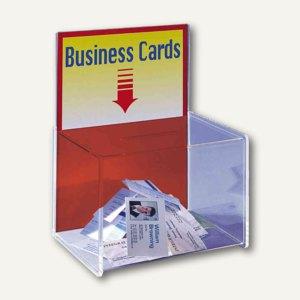 Visitenkartenbox zum Einwerfen von Visitenkarten