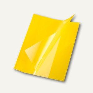 Bene Heftschoner, DIN A5, extra starke Folie, transluzent, gelb, 270500 gelb