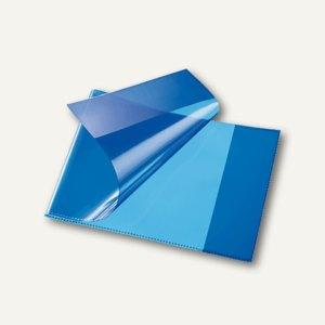 Bene Heftschoner, DIN A5 quer, extra starke Folie, transluzent, blau,270800 blau