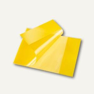 Bene Heftschoner, DIN A5 quer, extra starke Folie, transluzent, gelb,270800 gelb