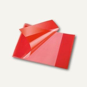 Bene Heftschoner, DIN A5 quer, extra starke Folie, transluzent, rot, 270800 rot
