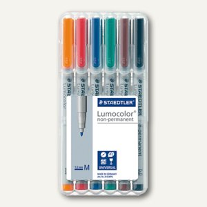Staedtler Lumocolor Universalstift non-permanent 315 M, 1 mm, 6er-Etui, 315 WP6