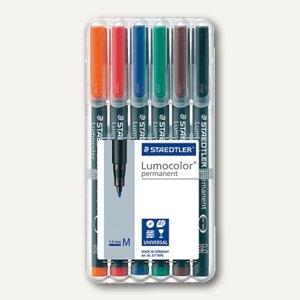 Staedtler Lumocolor Universalstifte permanent 317 M, 1 mm, 6er-Etui, 317 WP6