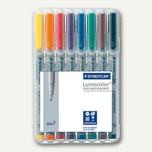 Staedtler Lumocolor Universalstift non-permanent 316 F, 0.6 mm, 8er Etui,316 WP8