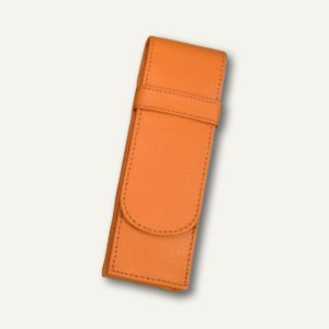 Alassio Stifte-Etui für 2 Schreibgeräte, Leder, orange, 2671