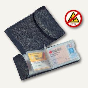Kredit- und Visitenkartenetui RFID Document Safe, Nappaleder, schwarz, 42016