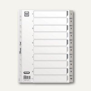 Kunststoff-Register Zahlen 1-10 DIN A4