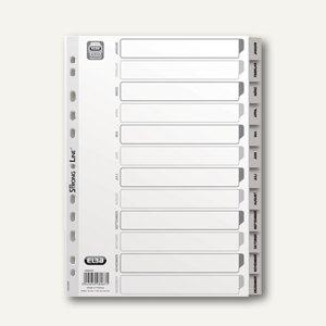 """Elba Kunststoff-Register """"Jan-Dez"""" DIN A4, PP, grau, 100204749"""