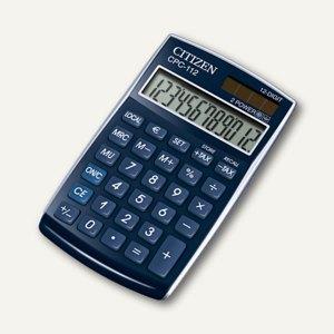 Citizen Taschenrechner CPC-112V, 12-stellig, blau, CPC112BLWB
