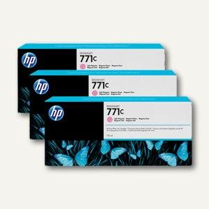 HP Tintenpatrone 771C, magenta-hell, 3 Stück, B6Y35A