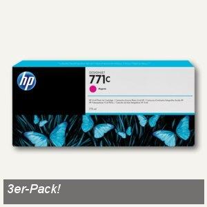 HP Tintenpatrone 771C, magenta, 3 Stück, B6Y33A