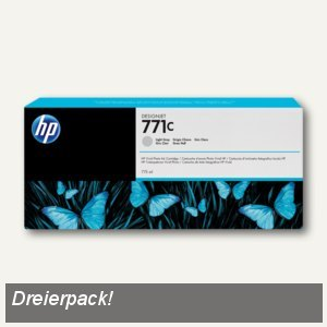 HP Tintenpatrone 771C, grau-hell, 3 Stück, B6Y38A