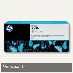 HP Tintenpatrone 771C, cyan-hell, 3 Stück, B6Y36A