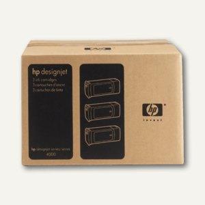 HP Tintenpatrone Nr. 90 gelb, 3 x 400 ml, C5085A