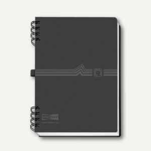 Veloflex Adressbuch mit Spiralbindung DIN A5, Register A-Z, schwarz, 5105180