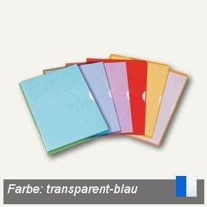 Elba Sichthüllen Fard'Liss, PVC, DIN A4, transparent-blau , 10 St., 100206693