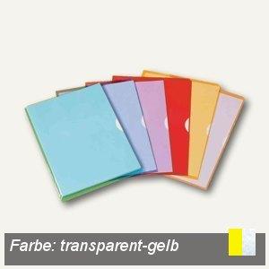 Elba Sichthüllen Fard'Liss, PVC, DIN A4, transparent-gelb, 10 St., 100206695