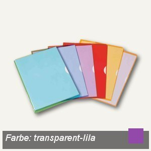 Elba Sichthüllen Fard'Liss, PVC, DIN A4, transparent-lila, 10 St., 100206696