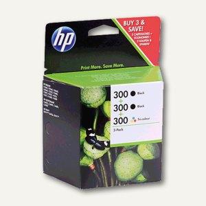 HP Tintenpatronen Nr.300, Multipack 2x schwarz + 1x color, SD518AE