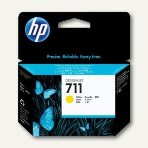 HP Tintenpatrone Nr. 711 gelb, 29 ml, CZ132A