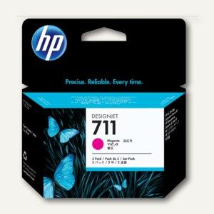 HP Tintenpatrone Nr. 711 magenta, 3 x 29 ml, Dreierpack, CZ135A