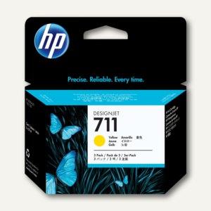 HP Tintenpatrone Nr. 711 gelb, 3 x 29 ml, Dreierpack, CZ136A