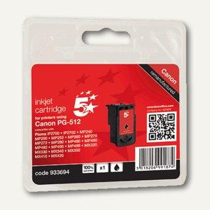 officio Tintenpatrone, schwarz pigmentiert, ersetzt Canon PG-512, 20 ml