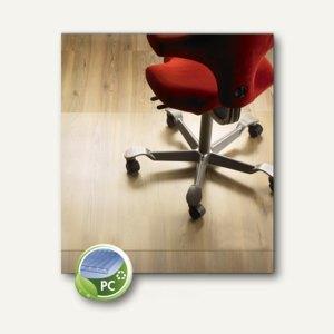 Bodenschutzmatte für Hartböden, 110 x 120 cm, transparent, Polycarbonat, 1140
