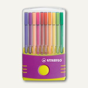 STABILO Fasermaler Pen 68, 1.0, sortiert, 20er ColorParade, lila, 6820-04-02