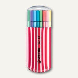 STABILO Fasermaler Pen 68, 1.0, sortiert, 20er Zebrui/beere, 6820-02-1-5