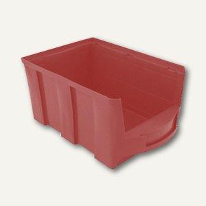 VISO Lagersichtkasten, 10 Liter, rot, STAR4R